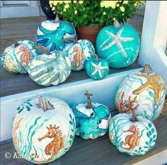 Coastal Halloween Decor! Love this!