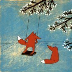 Лисование: трогательные рыжие иллюстрации - Ярмарка Мастеров - ручная работа, handmade