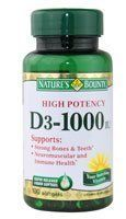 Natures Bounty Vitamin D3 1000 IU Immune Health 120 Softgels  Pack of 1  >>> Check out this great product by click affiliate link Amazon.com