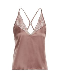 469f66f9deb36 FLEUR OF ENGLAND Lace-trimmed silk camisole top.  fleurofengland  cloth