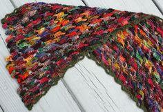 Koigu Interlocking Crochet Scarf - Crochet creation by QueerJoe