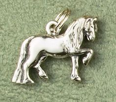 Sterling silver Friesian Horse Charm or Pendant