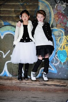 NYC Street Style, Manhattan Holiday   A mix of ultra feminine tulle, rockin' combat boots and a dash of glitter makes for the perfect, not-so-traditional festive style   Images by Mary Kate Gutierrez of MKG Photography   Poster Child Style