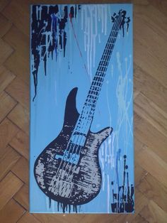 Printing Ideas Videos Elementary Guitar Tattoo For Men Guitar Drawing, Guitar Painting, Music Painting, Texture Painting On Canvas, Fabric Painting, Architecture Tattoo, Funny Art, Art Pictures, Watercolor Art