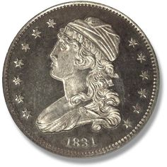 Capped Bust. 1815-1828 Coin Auctions, World Coins, Rare Coins, Coin Collecting, Cap, Baseball Hat, Peaked Cap