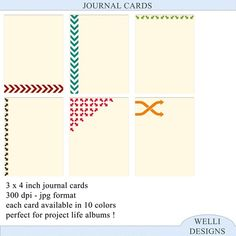 Beautiful journaling cards and other freebies