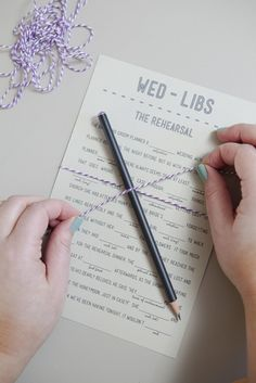 DIY Wedding // free wedding mad-lib printables! We have 6 different themes for you!