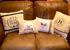 Drop Cloth Iron On Pillows {inspired by Ballard Designs} - Home Stories A to Z