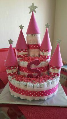 Baby diaper castle