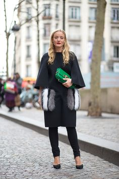 Kate Foley in Fendi best street style at paris fashion week via @real_kate_foley @BazaarUK @harpersbazaarus @styledotcom