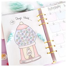 What do you look forward to most this year?  Just listed this cute Gumball Machine Countdown page !  Shop link in bio