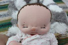 Custom Newborn size baby cloth doll by Aubrey Barbosa from La Chulona