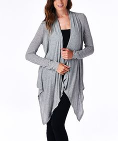 This Gray Sidetail Open Cardigan by tresics is perfect! #zulilyfinds
