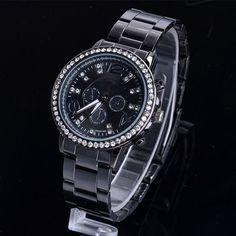New Fashion Casual Watch For Women's Wristwatch Crystal Hours Steel Case Ladies Quartz