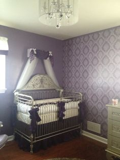 Project Nursery - Purple Girl Nursery Crib Canopy