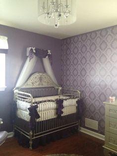 Project Nursery - Purple Girl Nursery Crib Canopy