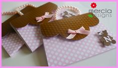 415 - Pink  and Brown Teddy Bear Invitation   by mercia designs