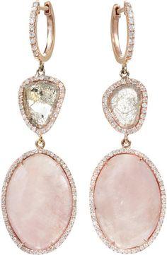 Monique Péan  Pink Sapphire Diamond Slice Earrings