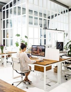 Spell + The Gypsy Collective's Dreamy Byron Bay Base – Office Design 2020 Cool Office Space, Office Space Design, Workspace Design, Office Workspace, Office Interior Design, Office Interiors, Design Studio Office, Office Designs, Work Office Spaces