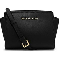 MICHAEL KORS Selma mini cross-body satchel (Black) Perfect for a girls night out!!