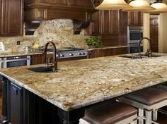 Colonial Gold With Dark Cabinets   Google Search   Granite Countertops    Pinterest   Colonial, Google Search And Granite
