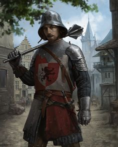 medieval guard, Ksenia Kim on ArtStation at https://www.artstation.com/artwork/42Egl