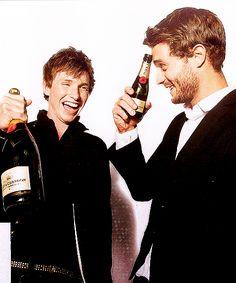 Jamie and friend and fellow actor Eddie Redmayne