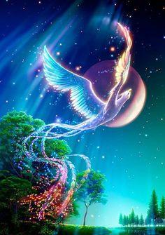 Fênix - um pássaro mítico, nunca morre. Ela sempre voa longe, para frente