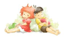 Sosuke & Ponyo - Ponyo on the Cliff by the Sea,Studio Ghibli