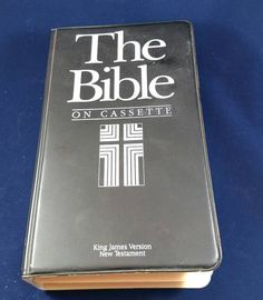Check out this item in my Etsy shop https://www.etsy.com/listing/507692983/new-testament-the-bible-on-cassette-king