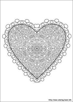 Detailed Coloring Pages For Adults | 12. Coloring Book Valentines Day Coloring Pages