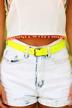 In The Neon Lights Belt: Neon Yellow #shophopes