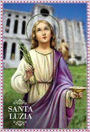 Resultado de imagem para oração de santa luzia para imprimir