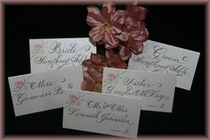 Pretty table cards for a June wedding.
