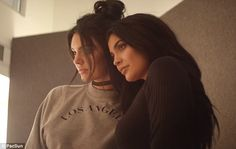 Family values: Despite being born in the later half of the grunge decade, Kendall Kylie may have been influenced by the 1990s fashions worn by their older sisters
