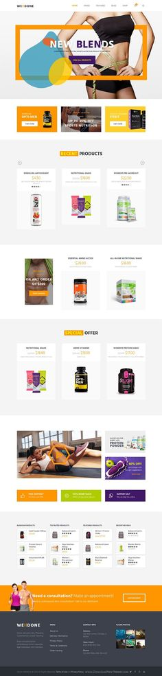 Welldone is a colorful WordPress theme intended for online store of sports #nutrition products and #supplements #website. Download Now!