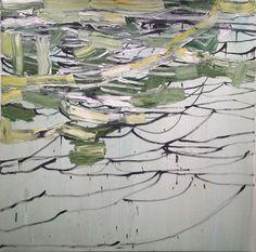 'Mercurius Rides the Slipstream' (2012) by American painter Margaret Evangeline (b.1943). Oil on canvas, 48 x 48 in. ty, fresh pressed art. via Jonathan Ferrara Gallery on artsy