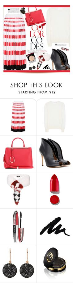 """""""Fendi Pleated Skirt!"""" by marialibra on Polyvore featuring Fendi, Victoria Beckham, Gianvito Rossi, Rodin, L'Oréal Paris, Astley Clarke, Gucci and Chanel"""