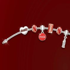 Coca-Cola 125th Anniversary Celebration Bracelet by The Bradford Exchange
