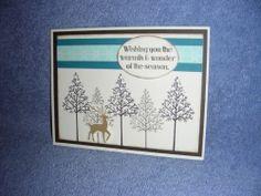 Stampin Up Warmth Wonder Cardinal Holly Christmas Tree Deer Holiday
