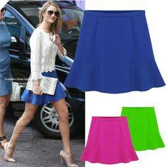 NEW Women Skirt Sexy High Waist Short Plain Flared Pleated A-Line Mini Skirt form women 3 Colors b8 56 #Affiliate