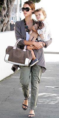 Jessica Alba - practical mom and yet stylish