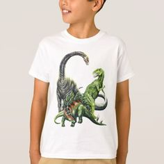 Dinosaur T-shirt, Kids Unisex, Size: Youth XL, White Dinosaur Images, Dinosaur Types, Dinosaur Cake, Types Of T Shirts, Recipe For Teens, Dog Bowtie, Shirt Style, Fitness Models, Shirt Designs