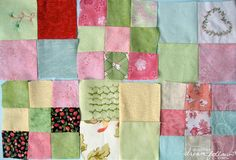 quilt squares by merwing✿little dear, via Flickr......I love the alternate 4- and 9-patch blocks with the hand embroidery