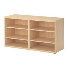 BESTÅ Shelf unit/height extension unit IKEA Four adjustable shelves. Adjustable feet for stability on uneven floors.
