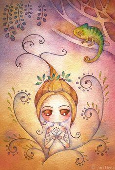 Kai Fine Art is an art website, shows painting and illustration works all over the world. Watercolor Girl, Watercolor Paintings, Watercolour, Illustrations, Illustration Art, Arte Pop, Anime Artwork, Whimsical Art, Artist Art