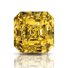 The Delaire Sunrise 221.81 carat yellow diamond, which was discovered in a mine in South Africa. From the starting point of its natural shape, it took a whole year to achieve the perfect emerald cut.