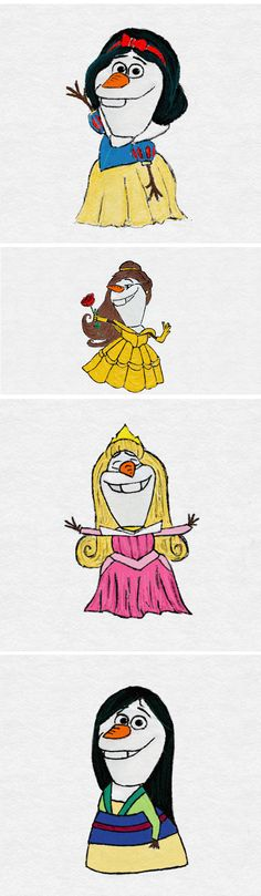 If Olaf Was a Disney Princess - The Meta Picture