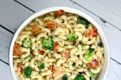 "<p>Comfort food for the whole family:<br /><a href=""http://www.recipegirl.com/2014/12/16/bacon-broccoli-macaroni-cheese/"" target=""_blank""><strong>GET THE RECIPE HERE:</strong>  Bacon and Broccoli Macaroni and Cheese</a></p>"