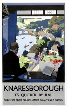 LNER Vintage Travel Poster by Henry George Gawthorn Knaresborough, Harrogate, Yorkshire. LNER Vintage Travel Poster by Henry George GawthornBy By or BY may refer to: Posters Uk, Train Posters, Retro Poster, Railway Posters, Vintage Travel Posters, Vintage Postcards, Vintage Ads, Poster Prints, Vintage Style